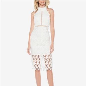 Nordstrom Bardot Gemma Halter White Dress